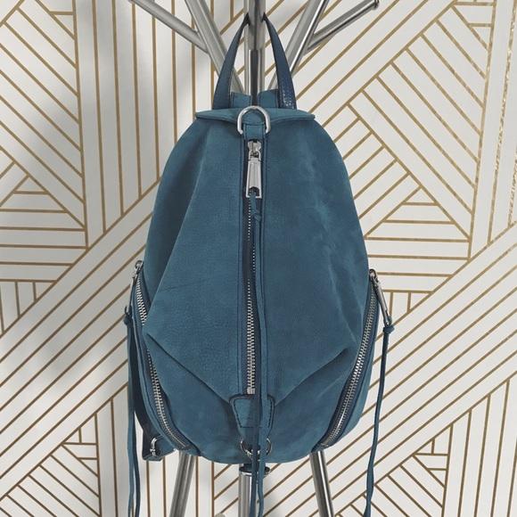 70777c01e Rebecca Minkoff Dusty Blue Medium Julian Backpack.  M_5b40489ac9bf50b81a811ffe